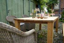 Rustikal-Dining-Tisch LAREDO 160x90 cm