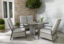 Design-Lounge-Sessel LOUVRA STEEL